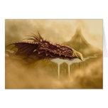 flying dragon fantasy greeting card