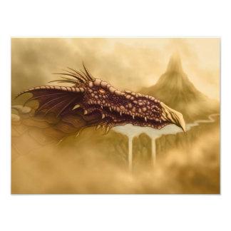 flying dragon fantasy photo print