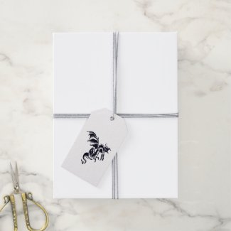 Flying Dragon Pack Of Gift Tags