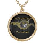 Flying Dragon Tae Kwon Do- Pendant gold