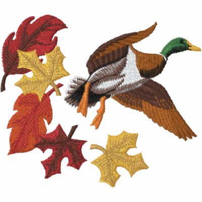 Flying Duck and Fall Leaves Polos