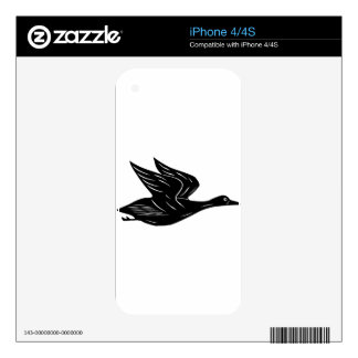 Flying Duck Decal For The iPhone 4S