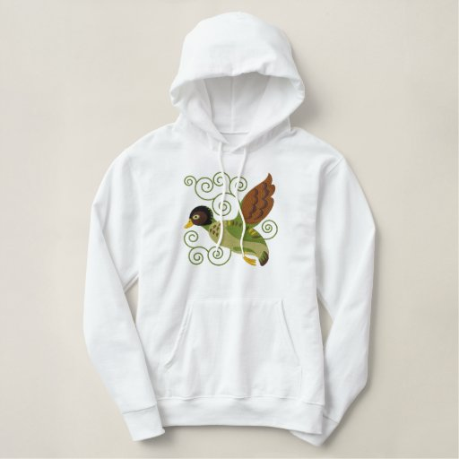 Flying Duck Embroidered Hoodie