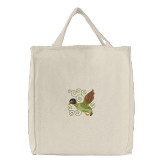 Flying Duck Embroidered Tote Bag