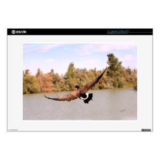 "flying duck over water photograph skin for 15"" laptop"