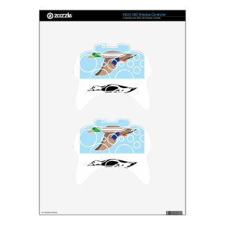 Flying Duck Vector Illustration Xbox 360 Controller Decal