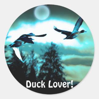 FLYING DUCKS & MOON Stickers