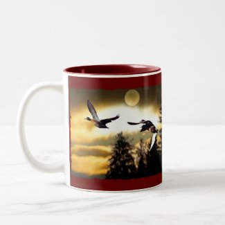 FLYING DUCKS zazzle_mug