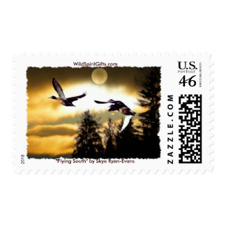 FLYING DUCKS POSTAGE STAMPS