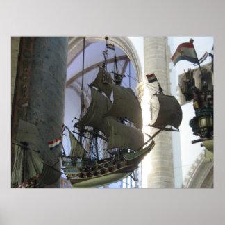 Flying Dutchman Hanging Battleship Photo Poster