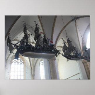 Flying Dutchman Hanging Ship Models Poster Art