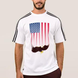 Flying Eagle and American Flag Tee Shirt