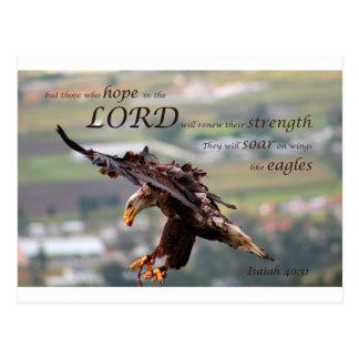 Flying Eagle Bible Verse.jpg Postcard