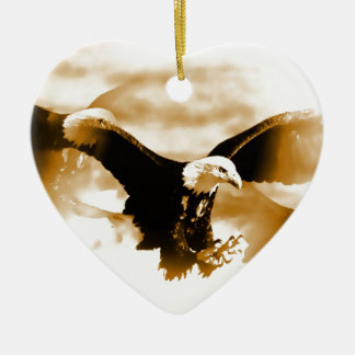 Flying Eagle Ceramic Ornament