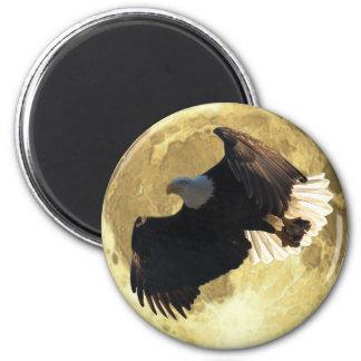 Flying EAGLE, FISH & FULL MOON Wildlife Magnet