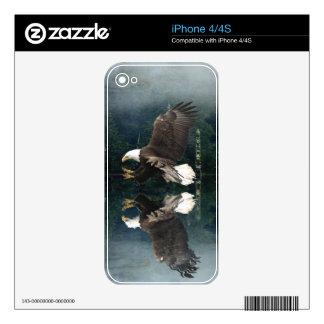 Flying Eagle Fishing Art Wildlife iPhone 4 Skin