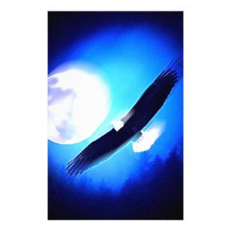 Flying Eagle & Moon Customized Stationery
