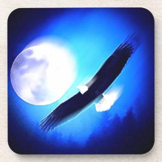 Flying Eagle & Moon Drink Coasters