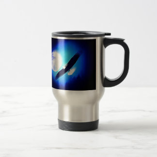 Flying Eagle & Moon Travel Mug