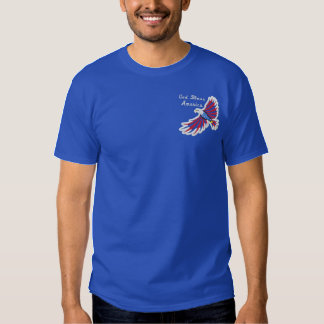 Flying Eagle Patriotic American Embroidered T-Shirt