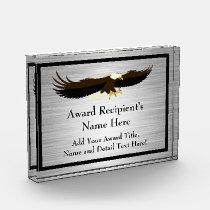 Flying Eagle Personalized Acrylic Award