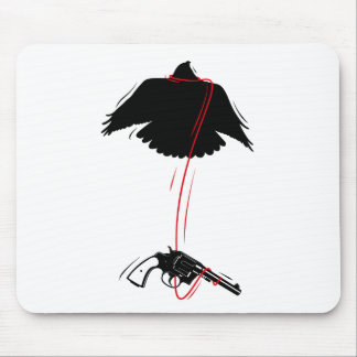 Flying Eagle Pistol Peace Mouse Pad