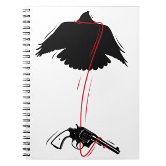 Flying Eagle Pistol Peace Spiral Notebook