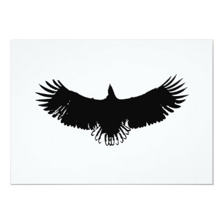 Flying Eagle Silhouette Invitation