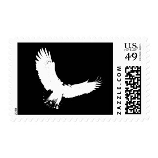 Flying Eagle Silhouette Postage