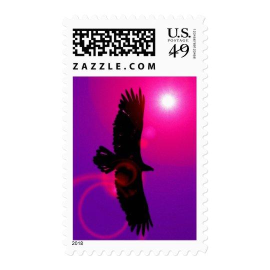 Flying Eagle Slhouette Postage