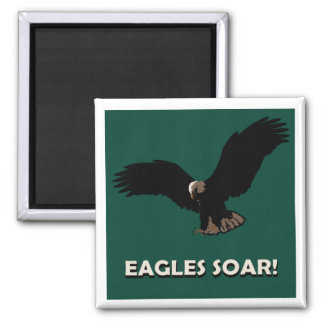 Flying Eagle Square 2 Inch Square Magnet