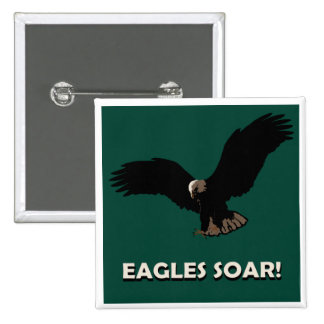 Flying Eagle Square Pinback Button