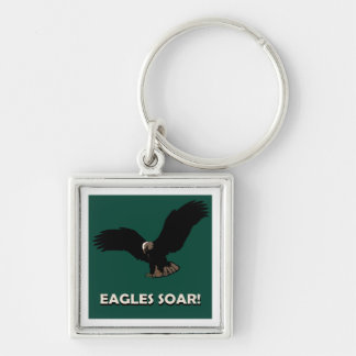 Flying Eagle Square Key Chains