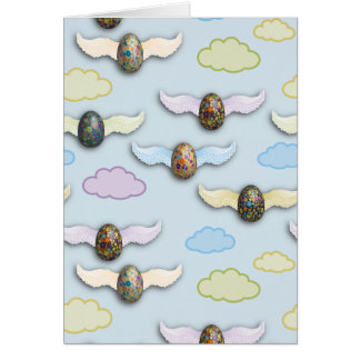 Flying Eggs Note Card