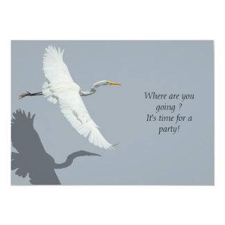Flying Egret 1 Party Invitation