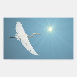 Flying Egret 1 Sticker