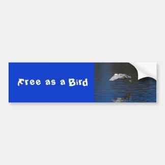 Flying Egret Car Bumper Sticker