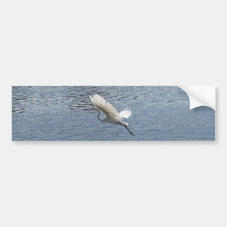 Flying Egret Bumper Sticker