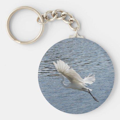 Flying Egret Keychains
