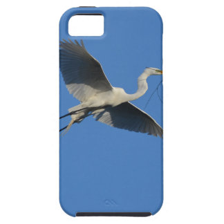 Flying Egret with Twig iPhone 5 Cover