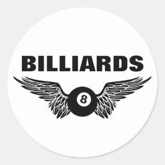 flying eightball billiards classic round sticker