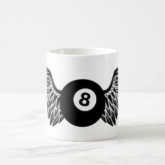 flying eightball coffee mug