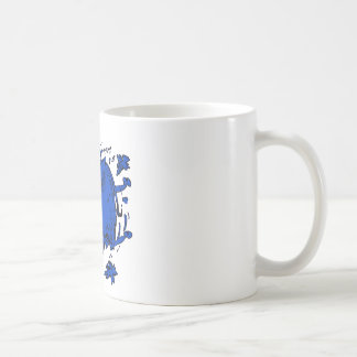 flying elephant blue coffee mug