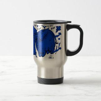 flying elephant blue travel mug