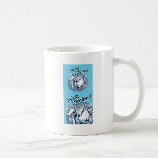 flying elephant coffee mug