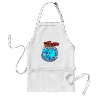 flying elephant color adult apron
