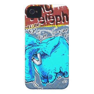 flying elephant color Case-Mate iPhone 4 case