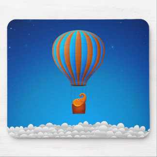Flying Elephant Mouse Pad