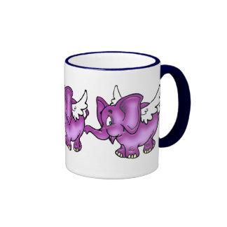 Flying Elephant Coffee Mugs