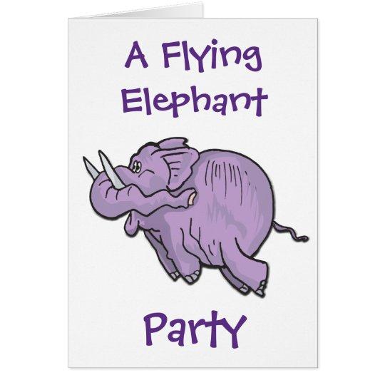 Flying Elephant Party Invitation